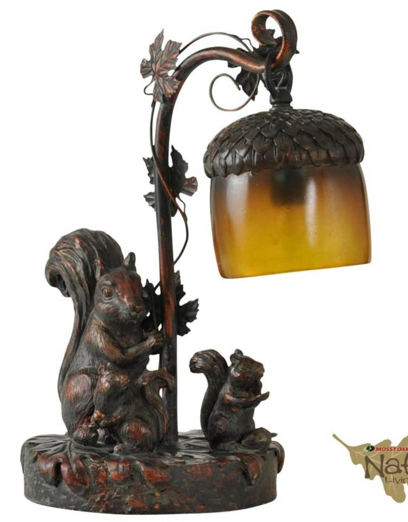 Style Craft Home Collection Squirrel with Leaf Table Lamp