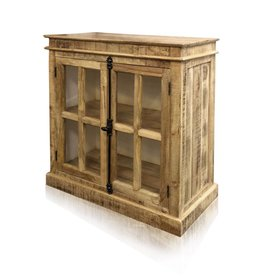 Style Craft Home Collection Two Door Cabinet with Iron Hardware