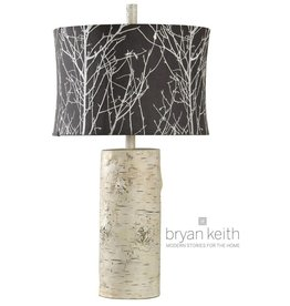 Style Craft Home Collection Willow Log Base Table Lamp