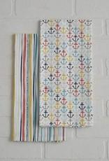 Edenbourgh Anchor Flour Sack Dish Towel, Set of 2