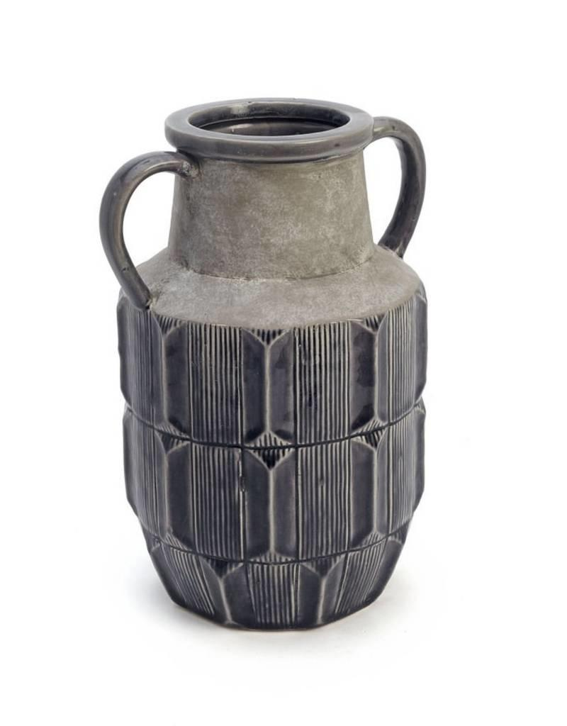 ADV Dark Grey Stained Vase