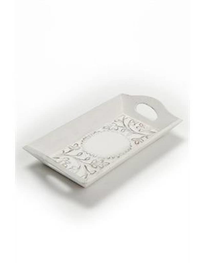 ADV Carved White Tray