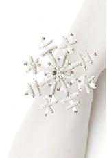 ADV White Snowflake Napkin Ring