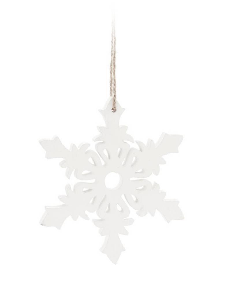 ADV White Snowflake Ornament