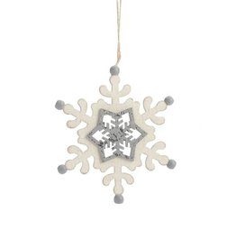 ADV Christmas Wooden Snowflake Ornament
