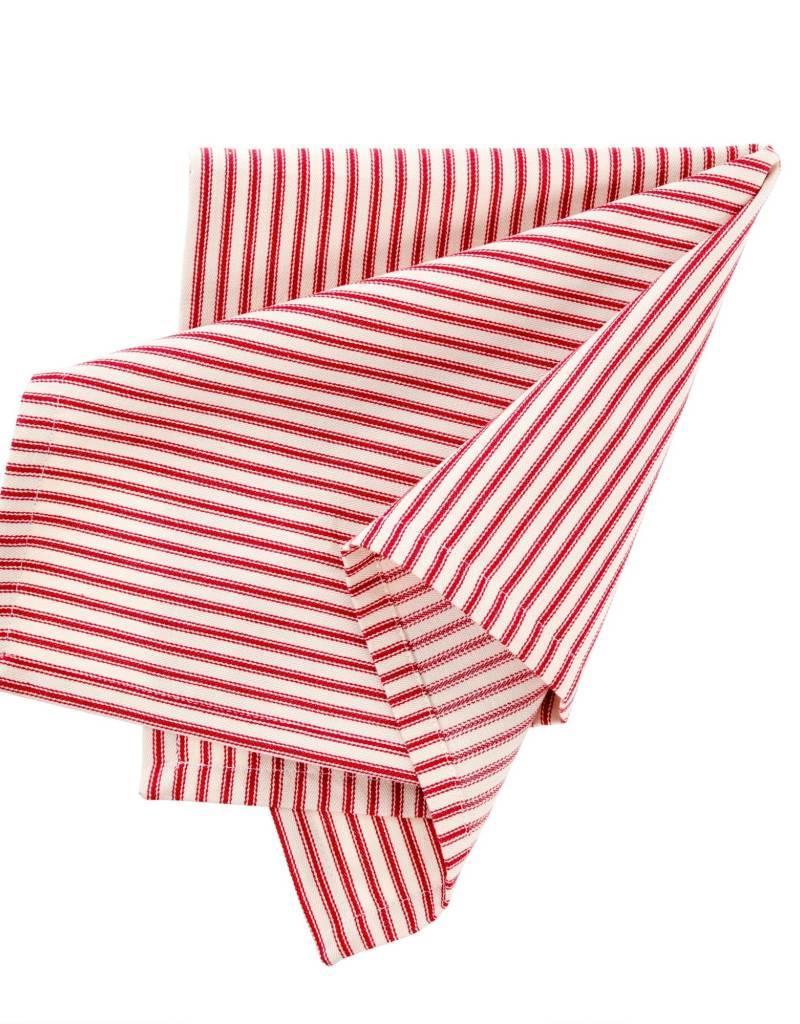 Indaba Red Ticking Napkins, Set of 4
