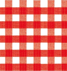 Old Country Design Bistro Red - Paviot Cocktail Napkin