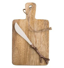 Tag ltd Mango Wood Serving Board & Spreader