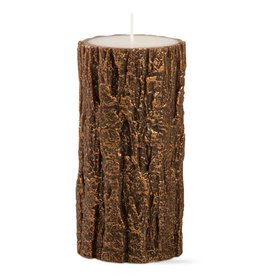 Tag ltd Gilded Tree Bark 3x6 Pillar Antique Copper