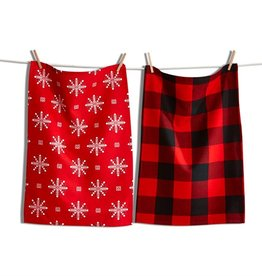 Tag ltd Lodge Snowflake Dish Towel Set of 2