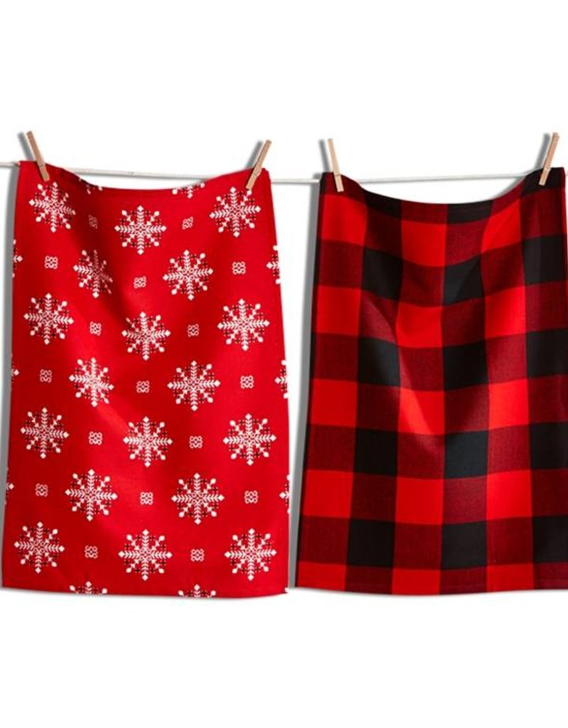 Tag ltd Lodge Snowflake Dish Towel Set of 2