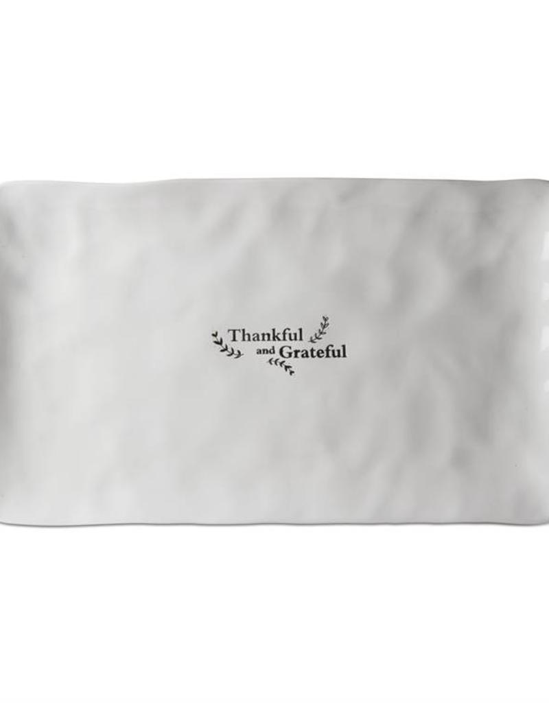 Tag ltd Thankful Grateful Rectangular Platter