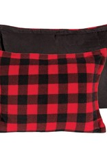 Candym Fleece Red/Black Check Toss, 14x20