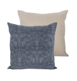 Candym Fossil Blue Denim 22x22 Pillow