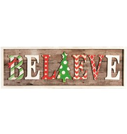 Candym Believe Christmas Sign