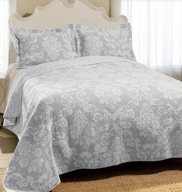 New New Horizons Adela Grey King Quilt and Shams
