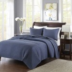 Channel Navy Queen Quilt and Shams