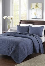 New New Horizons Channel Navy Queen Quilt and Shams