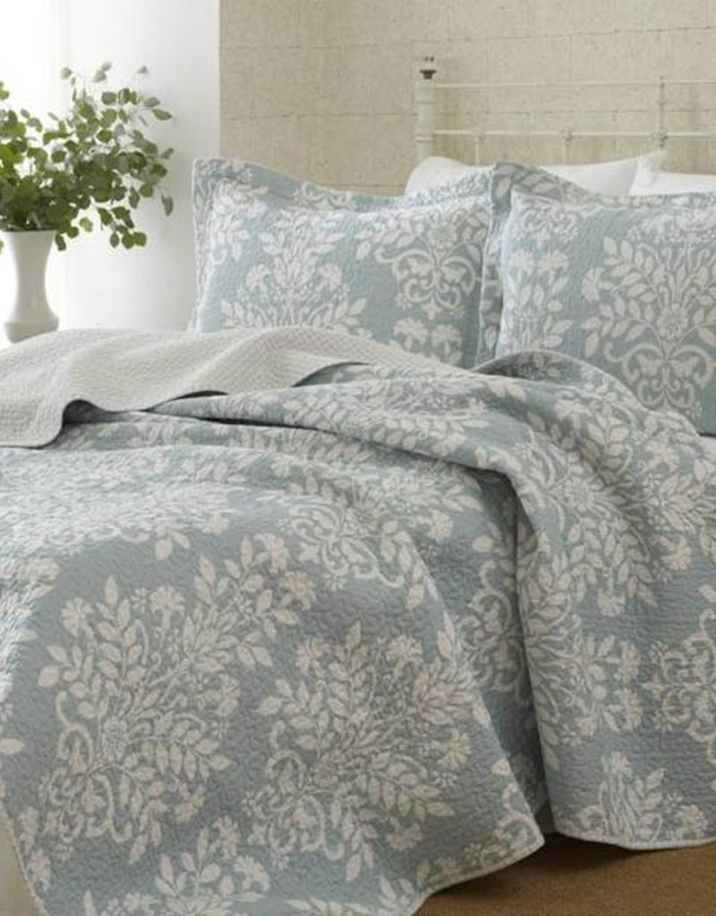 New New Horizons Adela Blue Queen Quilt and Sham
