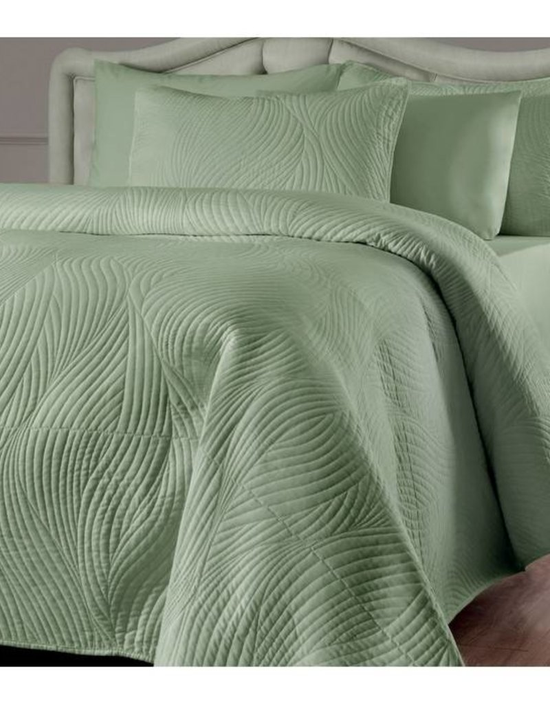 New New Horizons Green Tea Twin Quilt and  Shams