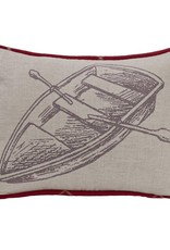 HiEnd Accents Printed Rowboat Pillow 16x21