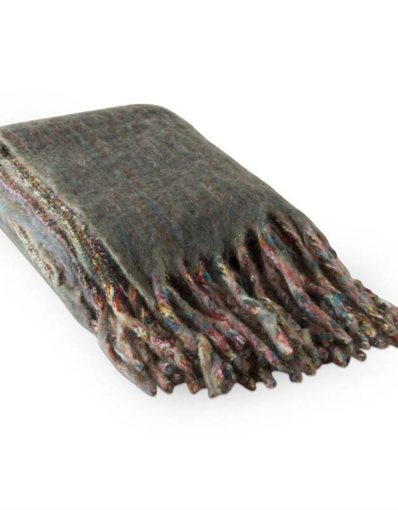 Tag ltd Mohair Stripe Throw Multi