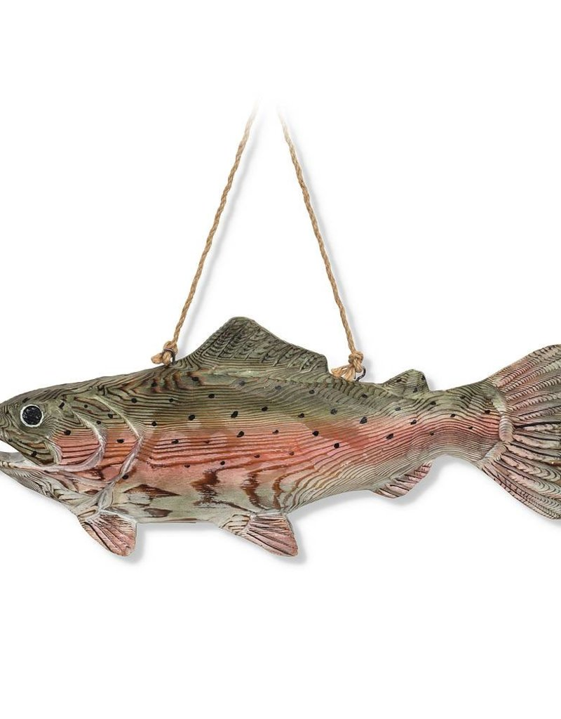 Abbott Carved Trout Wall Decor