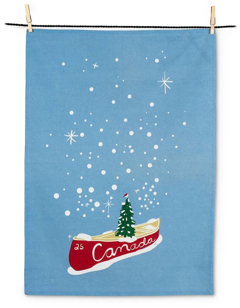 Abbott Canoe & Tree Tea Towel