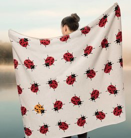 Abbott Allover Ladybug Throw