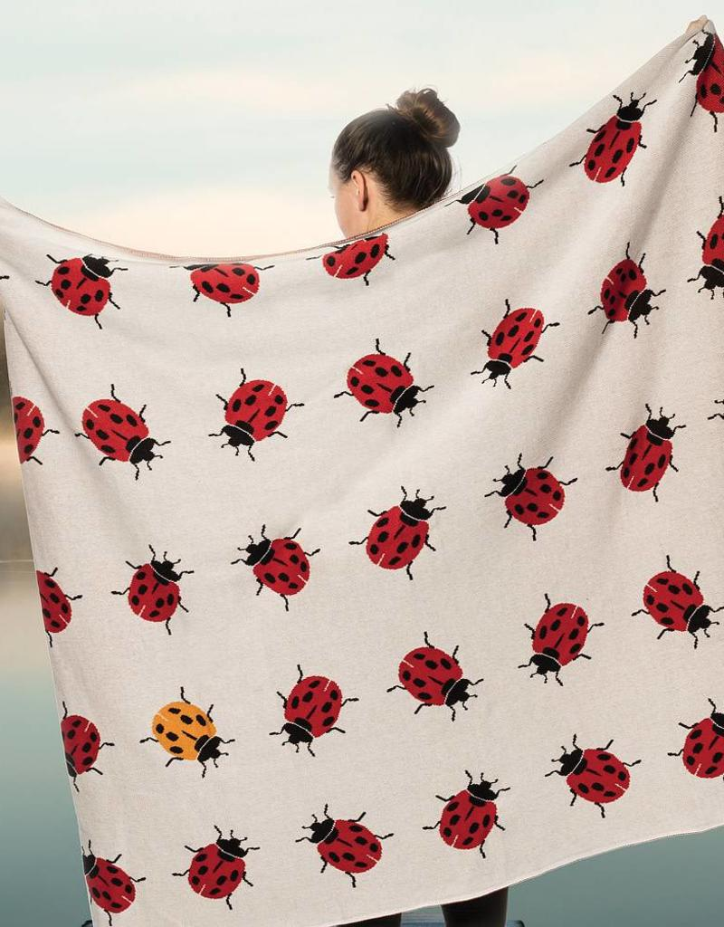 Abbott Allover Ladybug Throw