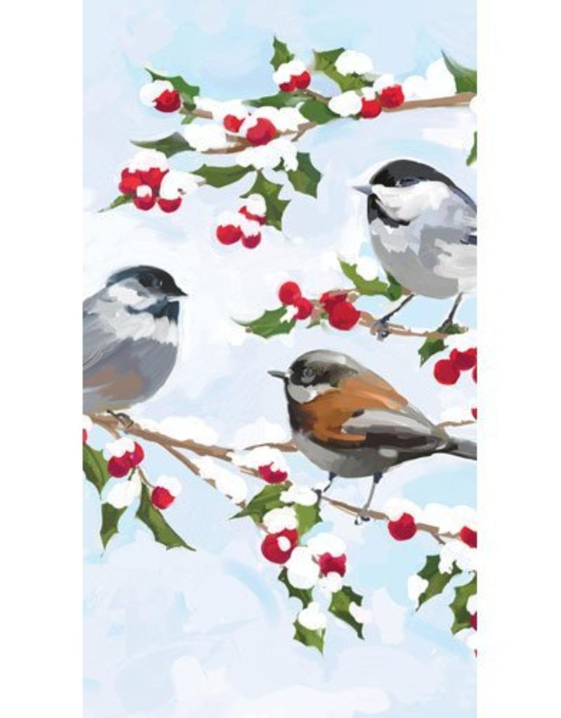 Paper Products Design Chickadees & Holly Tall Napkin