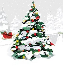 Paper Products Design White Christmas Tree Lunch Napkin