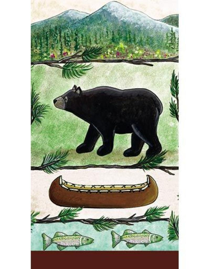 Paper Products Design Lodge Bear Guest Towel