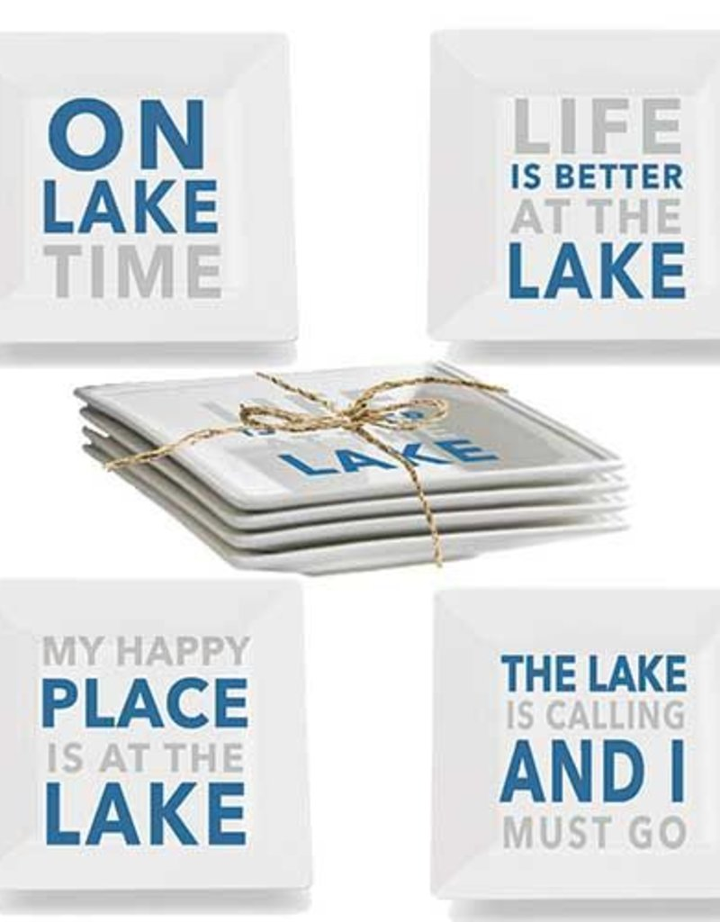 Paper Products Design At The Lake Malamine Plate Set of 4
