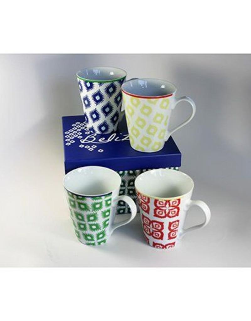 Paper Products Design Belize Boxed Mug Set of 4