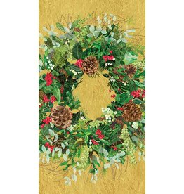 PPD Yuletide Wreath, Guest Towel