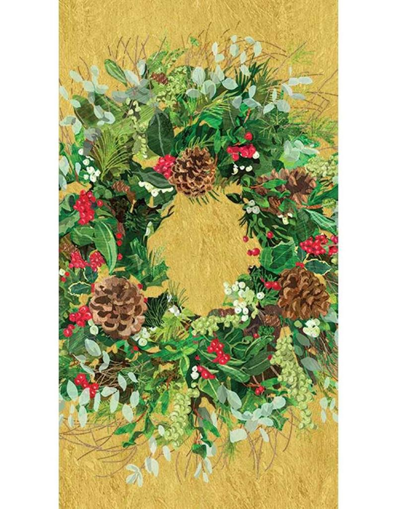 Paper Products Design Yuletide Wreath, Guest Towel