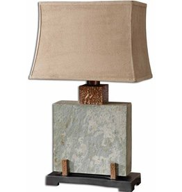 Uttermost Slate Square Lamp