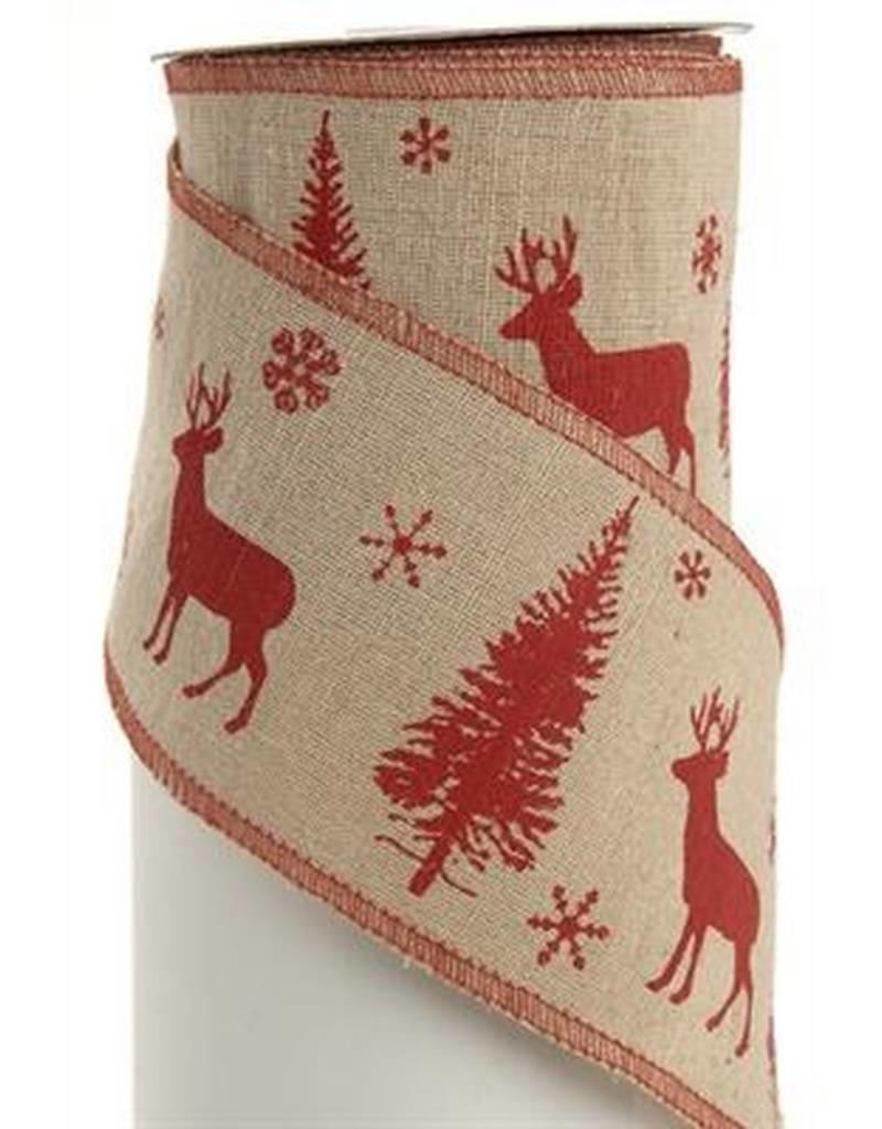 The Pine Centre Red Deer Ribbon, 10 yds