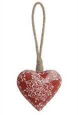 The Pine Centre Red Metal Heart Ornament