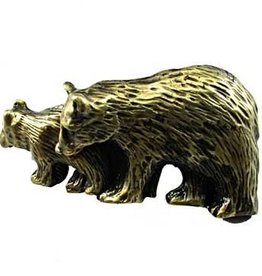 Sierra Lifestyles Bear Pull - Antique Brass