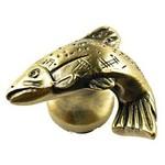 Sierra Lifestyles Fish Knob - Antique Brass