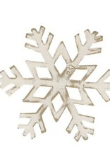 Park Design Snowflake Napkin Ring White