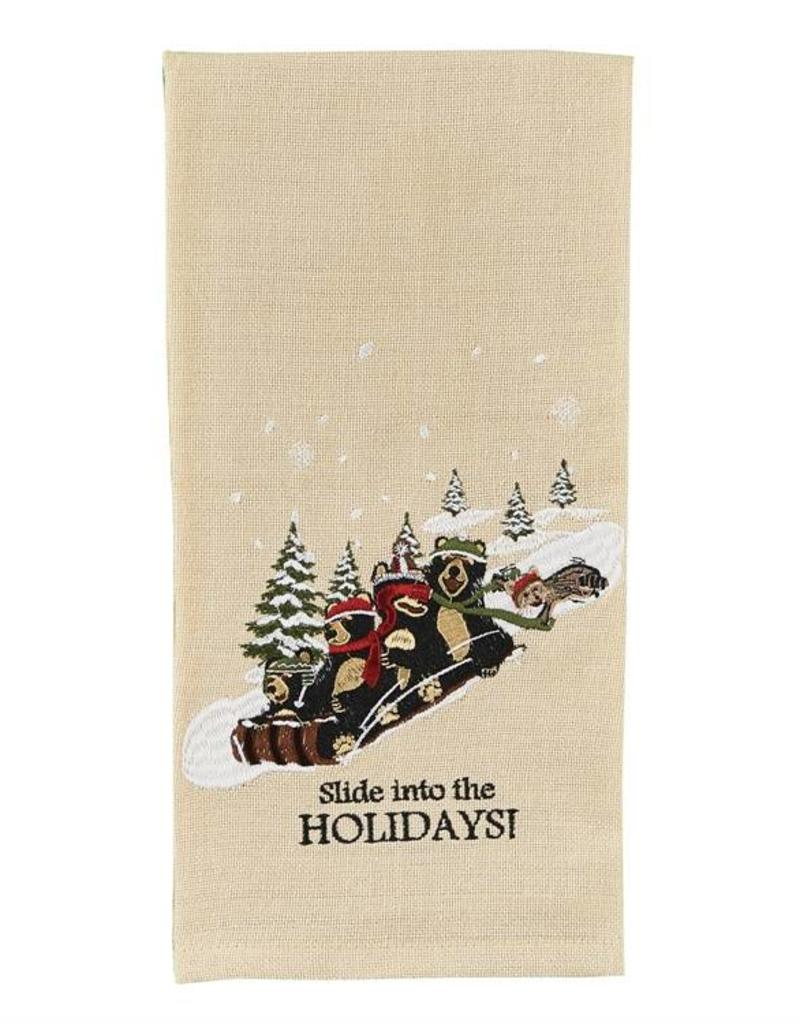 Park Design Slide into the Holidays Dish Towel