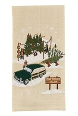 Park Design Camp Bearfoot Tree Lot Dish Towel