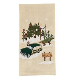 Park Design Camp Bearfoot Tree Lot Dishtowel