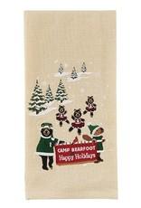 Park Design Camp Bearfoot Happy Holidays Dish Towel