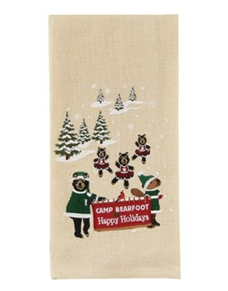 Park Design Camp Bearfoot Happy Holidays Dish Towel