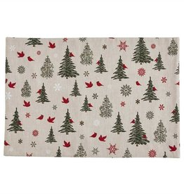 Park Design Woodland Christmas Print Placemat