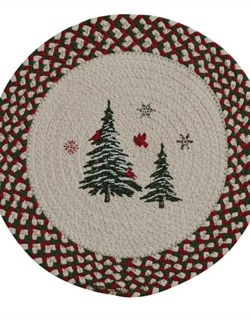 Park Design Woodland Christmas Braided Placemat